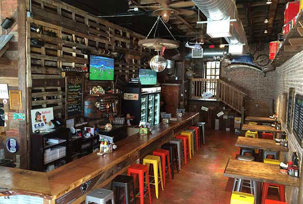 A picture of the whole interior of Jack Brown's, Birmingham, AL.