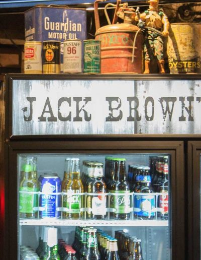 The many different craft beers at Jack Brown's Richmond, VA.